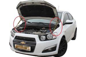 Fit Chevrolet Aveo T300 2012- Bonnet Strut Gas Lift Hood Damper Kit x2 Supports
