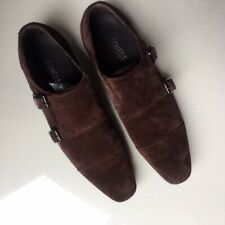Very Good Condition Jones Brown Suede Double Monk Shoes, Size 9