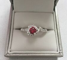 Cubic Zirconia Ring - With Imitation Ruby Rhinestone - Perfect Gift
