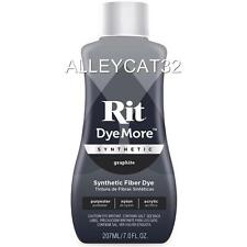 Rit Dye More Synthetic Liquid - GRAPHITE - 7 oz  Polyesters, Cotton/Poly