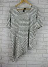 TS Top/Blouse Sz XS, 14 Gray, White Stripe