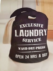 LAUNDRY HAMPER BAG 100L XL CLOTHES WASHING BASKET FOLDING HOME KITCHEN FLAT