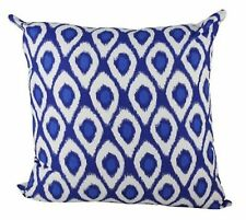 One Duck Two Ikat Cobalt cotton cushion cover royal blue