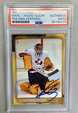 Marc-Andre Fleury Signed 2003 X-Generation Canada Hockey Card W/ PSA/DNA Cert