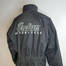 Indian Motorcycle Rain Gear Long Black Riding Jacket XL Water Resistant