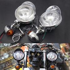 Motorcycle Turn Signal Driving Spot Fog lights Bar For Touring Chopper Custom