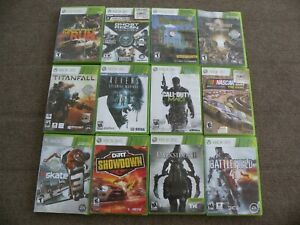 XBOX 360 Lot of 12 Games