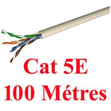 Câble CAT5E u/UTP 4 Paires Torsadés Longueur 100 Métres Gaine Grise