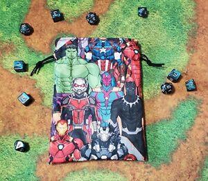 Marvel Avengers Packed dice bag, card bag, makeup bag