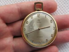 VINTAGE POCKET WATCH WATEX CAL.UNITAS 6325 GOLD PLATED 10 MICRON SWISS MADE
