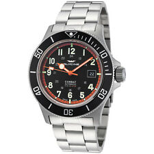 Glycine Men's 3908.191AT.N1.MB Combat Sub Automatic 42mm Black Dial - GL0249