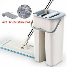 Auto Mop Clean Balai Seau Magique +chiffon en microfibre Filant Remplacement