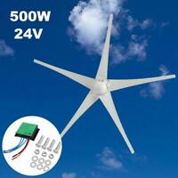 500W 5 Blades Wind Turbine Generator Horizontal Charge Controller Windmill 24V