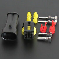 Hot Waterproof 1 Set 10Kit 2 Way Pin Electrical Wire Connector Plug Outdoor Tool