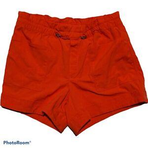 ATHLETA Women's Size 6 Blue Red READY GO Athletic Pocketed SHORTS Nylon Spandex