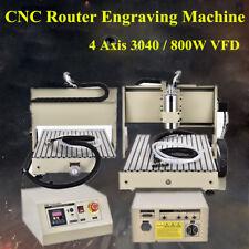 800W Graviermaschine 4 Achse 3040 CNC Fräsmaschine Router Engraver DE