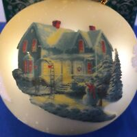 Ornament Thomas Kinkade Blessing of Christmas Brushworks Collection Box Gift