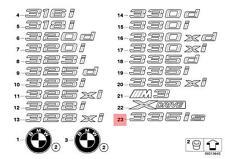 Genuine BMW Trunk Lid Chrome 335is Emblem Badge Logo Sign OEM 51147364378