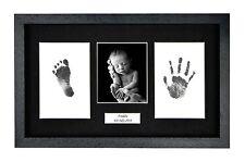 Foto de bebé personalizada a Mano Marco Negro Kit Baby Shower hospsital Regalo