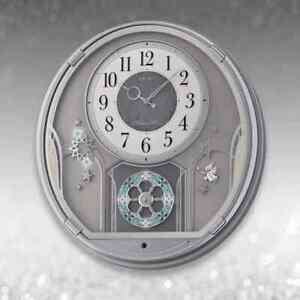 *BRAND NEW* Seiko Silver Case Melody in Motion Clock QXM375SRH
