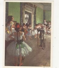 Class De Dance by Edgard Degas Art Postcard 570a