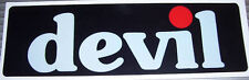 DEVIL EXHAUST DECAL 145MM X 45MM