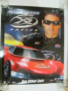 JEFF GORDON NASCAR POSTER XS RACING PLAY STATION PROMOTIONAL PEPSI FRITOS
