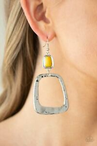 Paparazzi ~ Material Girl Mod Yellow Earrings ~ 🔥NEW RELEASE 2021🔥 ~ WOW
