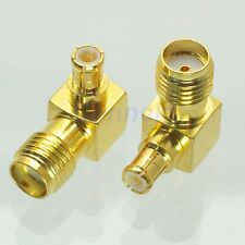 1x SMA female jack to MCX male right angle 90° plug RF coaxial adapter connector