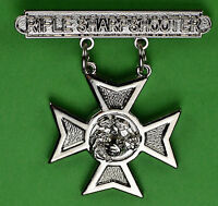 Rifle Sharpshooter USMC Weapons Qualification Badge US Marine Corps