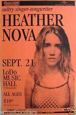 HEATHER NOVA 1998 DENVER CONCERT TOUR POSTER - Sultry Singer Songwriter