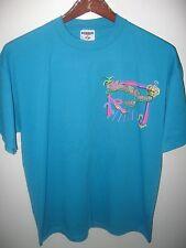 Cocoa Village Florida 1998 Mardi Gras Cape Canaveral Hospital Neon T Shirt XLrg