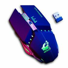 Gaming Mouse Wireless Optical Mouse Silent LED Ergonomic 1600DPI Rechargeable