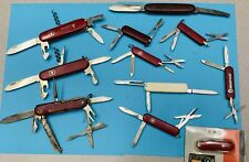 Vintage Lot Of Victornox & Wenger Swiss Army Knife Knives Rogers Sheffield