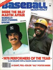 1978-79 Baseball Quarterly magazine, Ron Guidry, New York Yankees~Dave Parker~VG