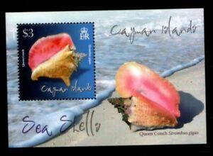 CAYMAN ISLANDS Queen Conch Seashell MNH souvenir sheet