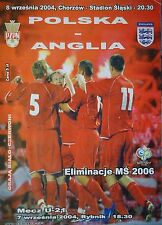 Programm LS 8.9.2004 Polen Polska - England
