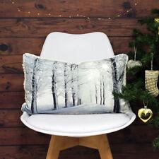 Riva Paoletti Glitter Forest Cushion Cover, Cream, 30 x 50 Cm