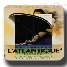 Reloj De Pared Trazador de líneas de viaje década de 1920 l'atlantique Ocean Metal Estaño Firmar Estilo