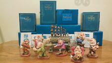 """WDCC Snow White """" Seven Dwarf's """"  7 piece set"""