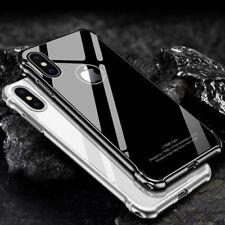For iPhone X 10 Metal Aluminum Bumper Case Shockproof Gorilla Glass Back Cover