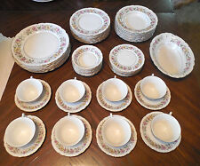 56 Pc Embassy Porcelain China LORD MAYFAIR American 8 Place Settings Florals