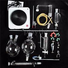 Essential Oil Steam Distillation Kit Lab Apparatus w/ Hot Stove Graham Condenser