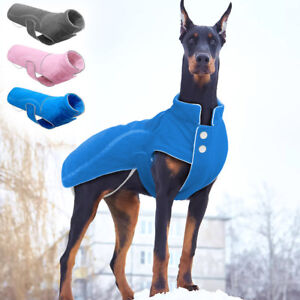 Reflective Winter Dog Fleece Jacket Small Large Dogs Clothes Warm Coat Apparel