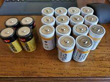 "18 ""D"" Cell Alkaline Batteries 14 Amazonbasics/4 Eveready Gold Loose Box"