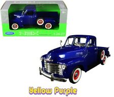 Welly 1:24 - 1:27 1953 Chevrolet 3100 Pick Up Truck Diecast Model Car Blue 22087