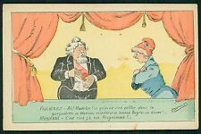 art Demasles Political caricature Fallieres France original 1910s postcard