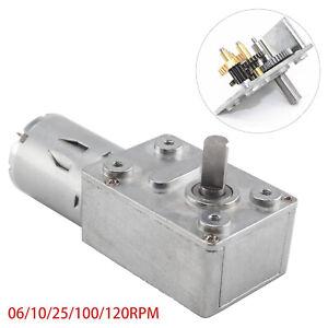 12V 0.6-120RPM Reversible High Torque Turbo Worm Geared Motor DC Motor UK