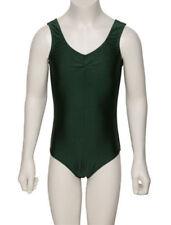 Vêtements justaucorps verts sans manches pour fille de 2 à 16 ans