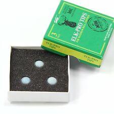 NUOVO! Elk Master Pro Pool Snooker Cue Punte - 10 mm Custodia Rigida GRATIS C&C Cue Tip Colla Gel